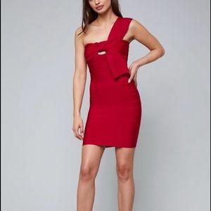 NWT Bebe Athens Tie Bandage Dress in Medium
